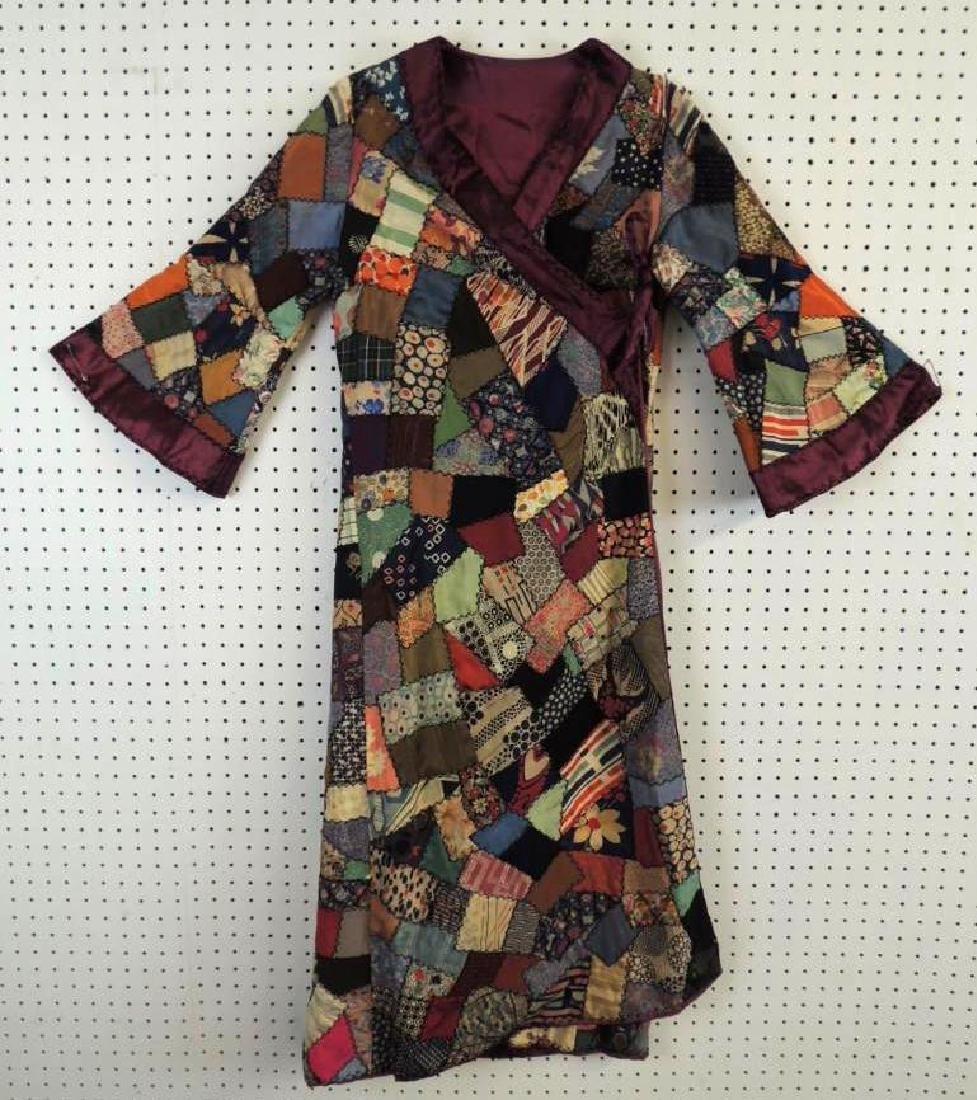 Antique Crazy Quilt Robe