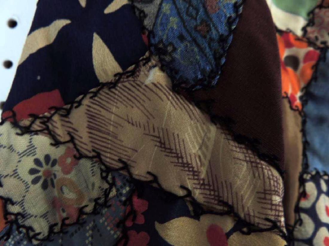 Antique Crazy Quilt Robe - 2