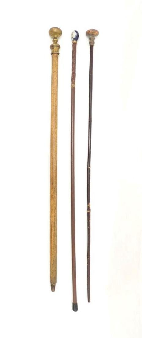Group of 3 Antique Walking Sticks