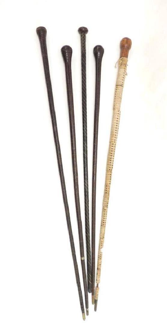 Group of 5 Wrapped Canes
