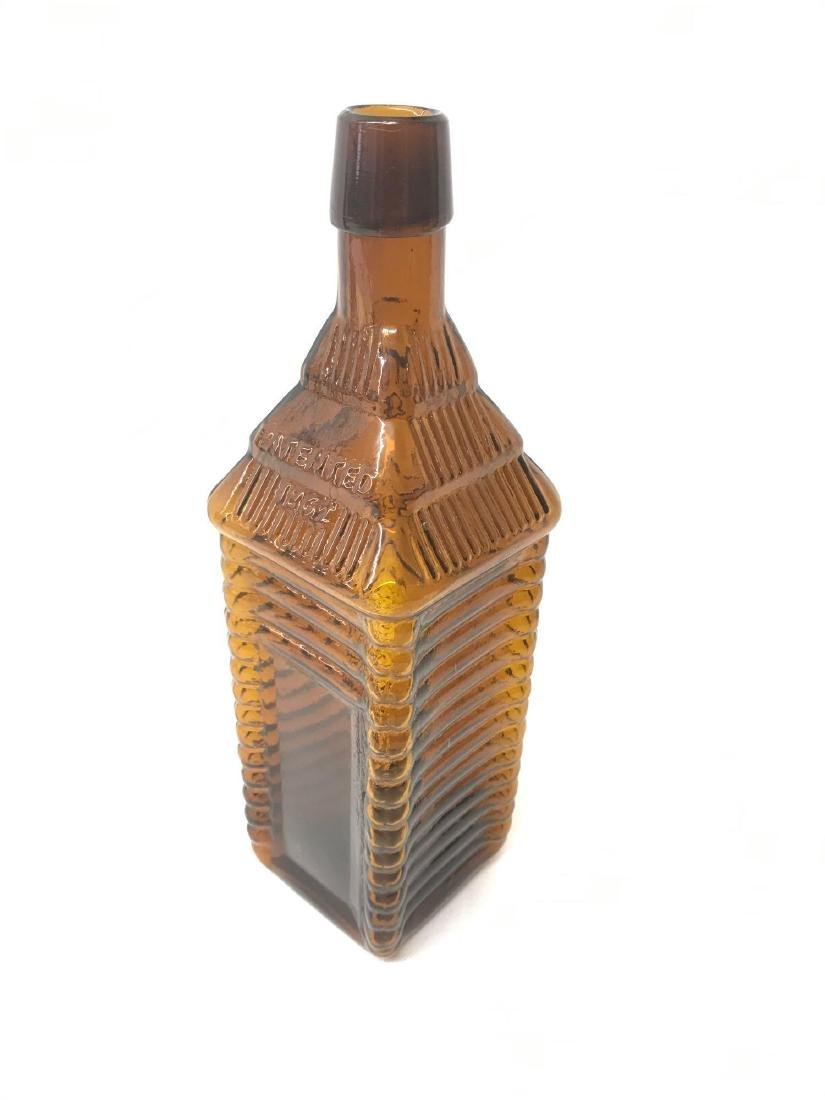 Antique 1860 plantation X bitters amber bottle - 2