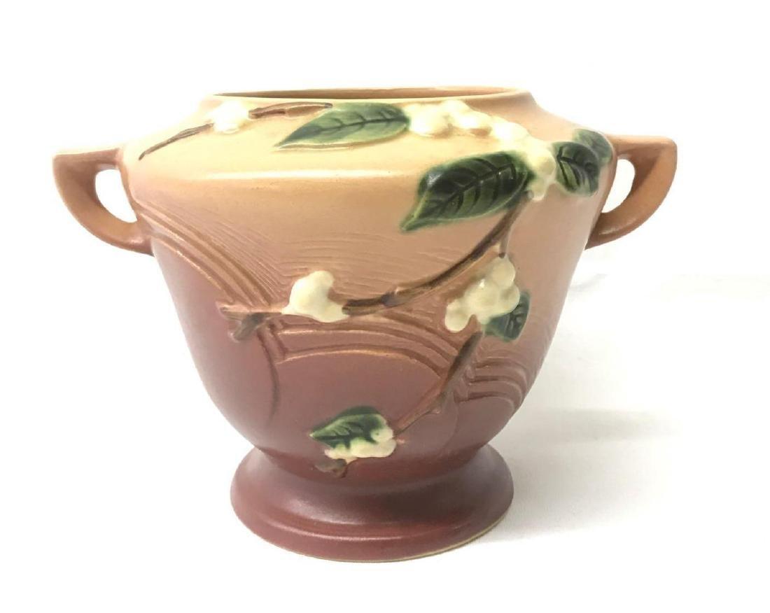 Vintage Roseville handled vase