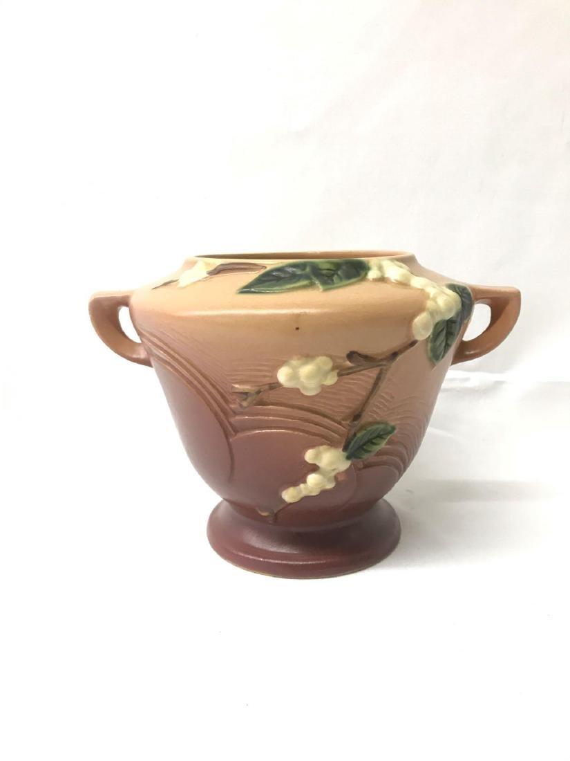 Vintage Roseville handled vase - 2
