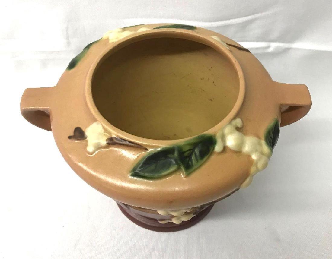 Vintage Roseville handled vase - 3