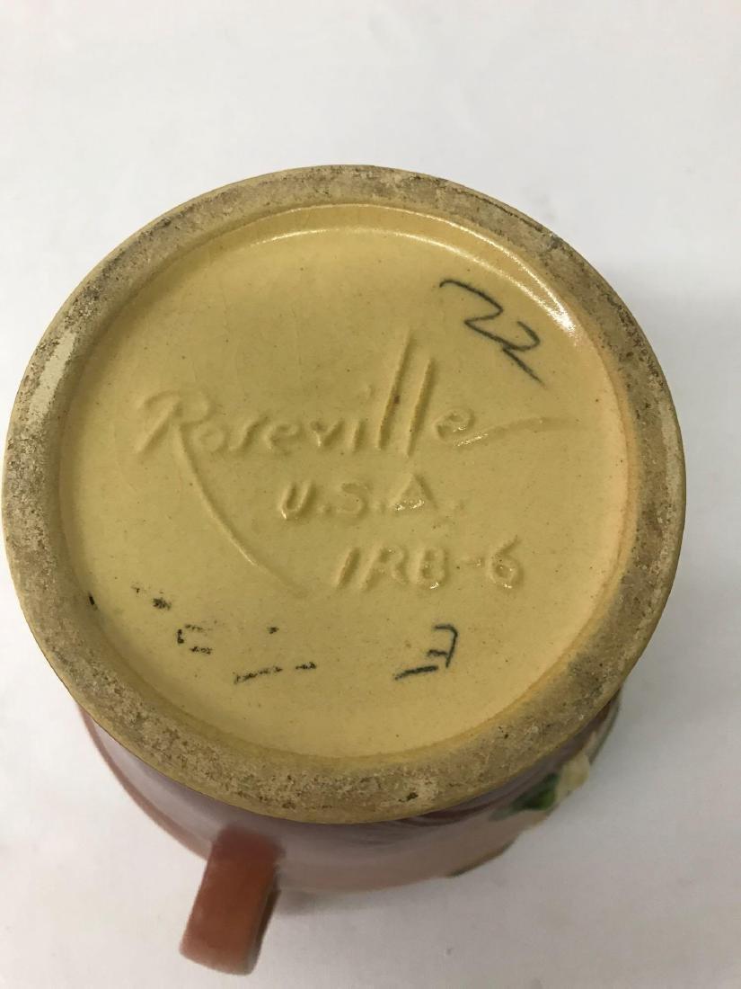 Vintage Roseville handled vase - 4