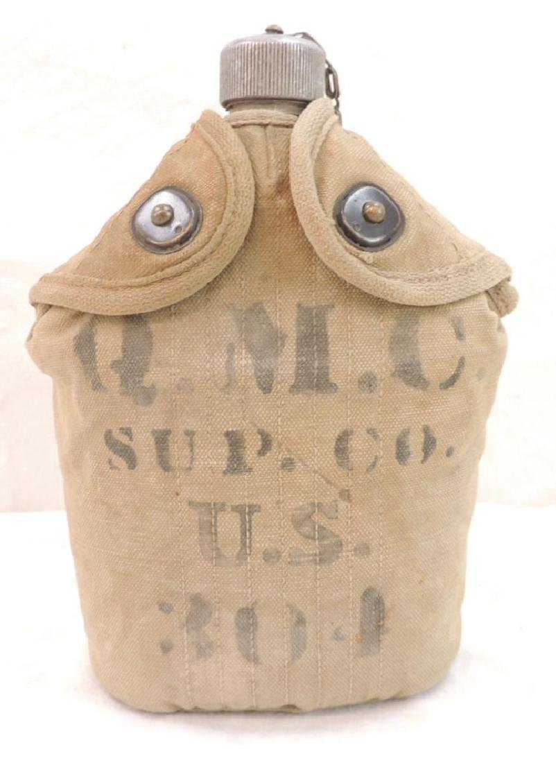 WW1 U.S. Army Canteen with Cup and Quartermaster Corps.