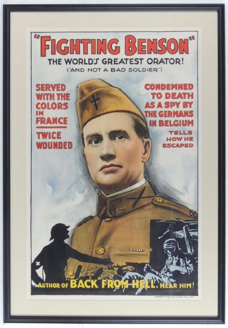 "WW1 ""Fighting Benson"" Movie Poster"