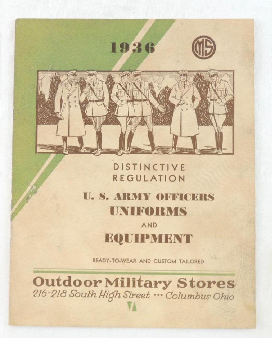 1936 U.S. Army Officers Uniforms and Equipment Catalog