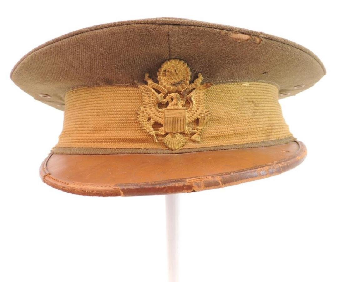 WW1 U.S. Army Officers Visor Cap with Badge