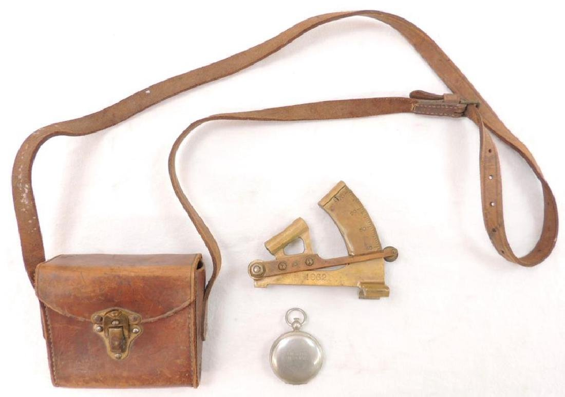 WW1 U.S. Army 1917 Corp of Engineers Sextant with