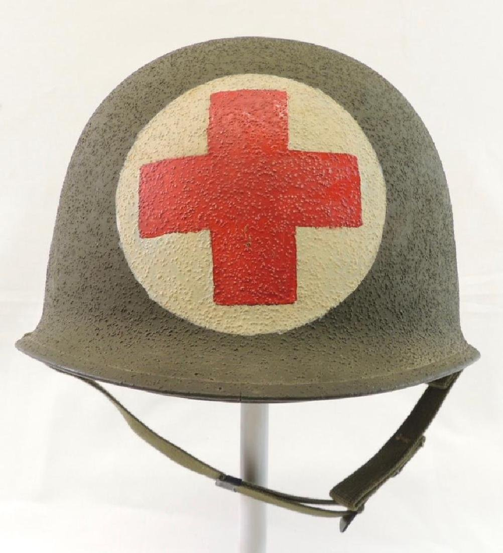 WW2 ID'd U.S. Army Medical Helmet with Liner