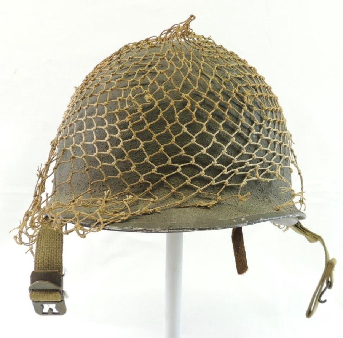 WW2 ID'd U.S. Army Helmet with Liner and Netting
