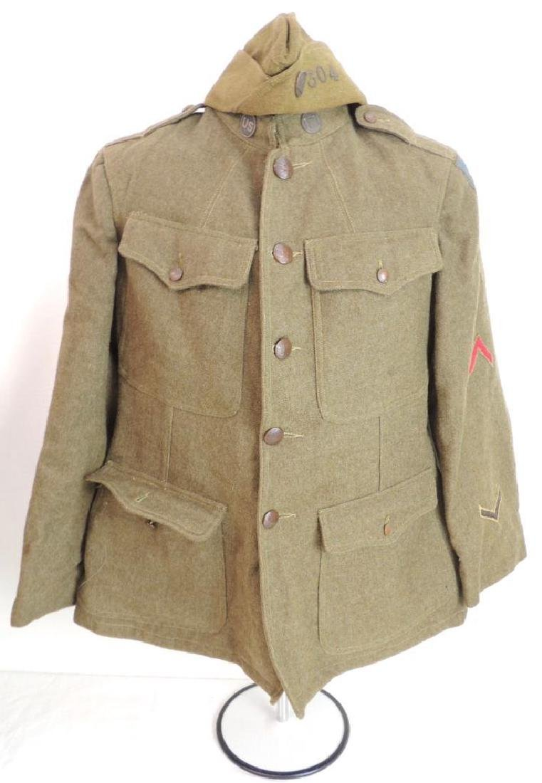 WW1 U.S. Army 79th Corps of Engineer Tunic and Hat with