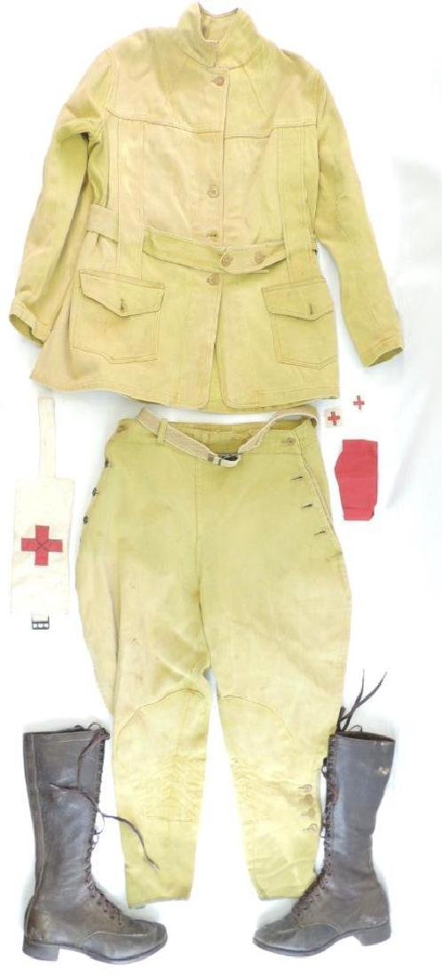 WW1 ID'd U.S. Army Medical Corp Uniform with Boots and