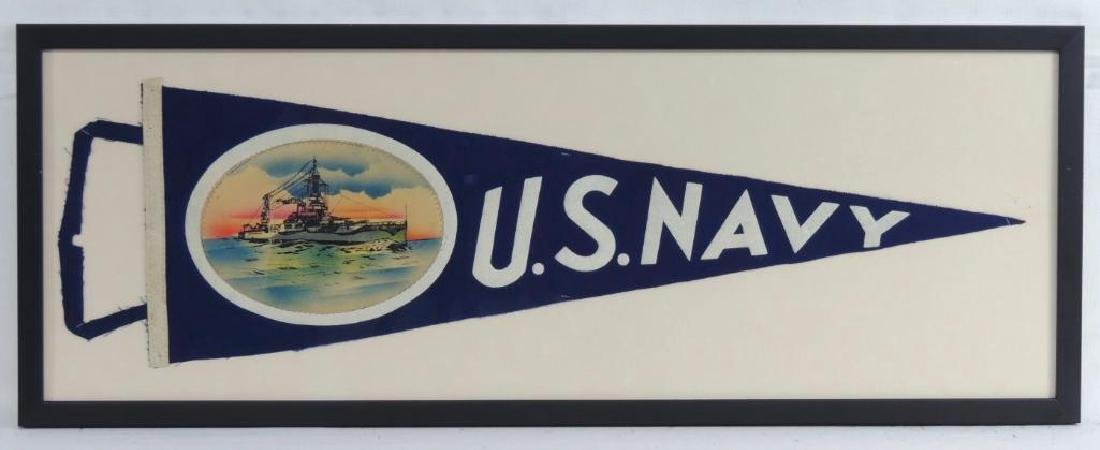 Group of 3 WW2 U.S. Navy Pennants