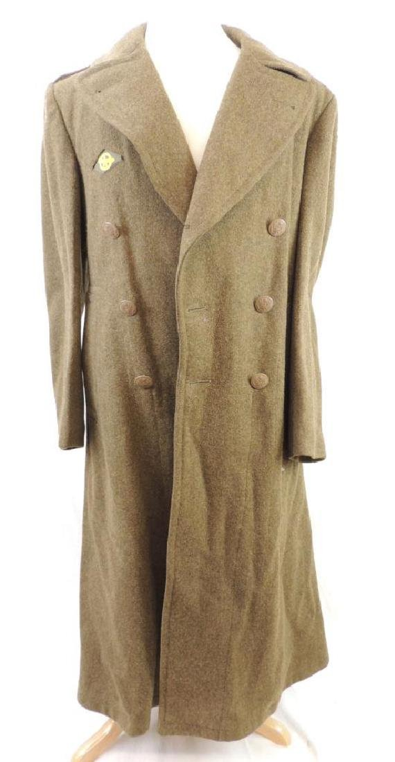 WW2 U.S. Army Overcoat with Patches