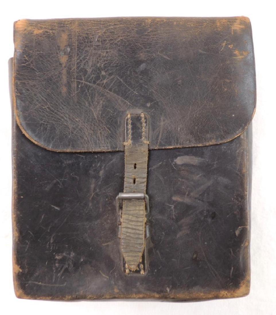 WW1 Era Black Leather Satchel