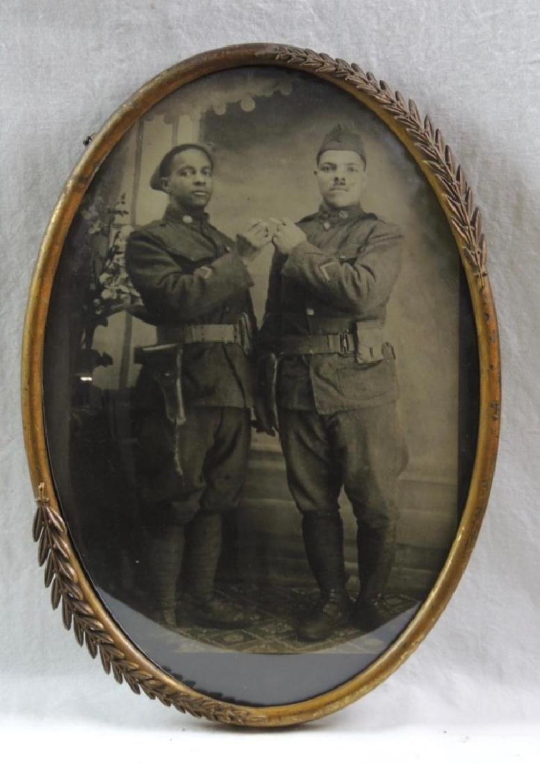 WW1 Photograph Featuring 2 African American Soldiers in