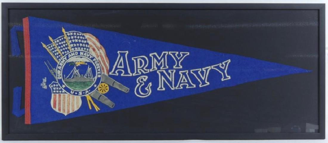 WW1 Army and Navy Framed Pennant