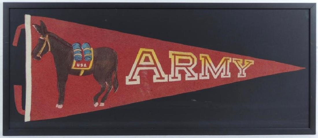 WW1 Army with Horse Framed Pennant