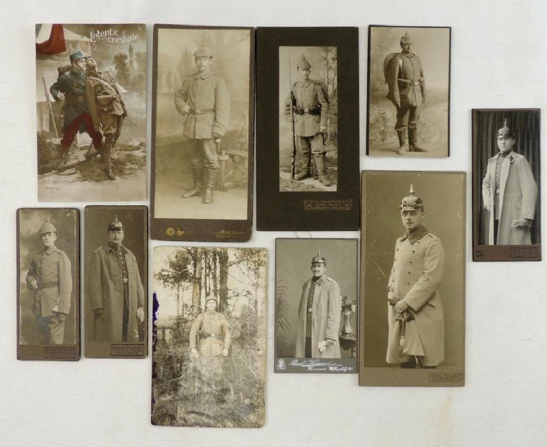 Group of 10 WW1 German Photographs Featuring Soldiers