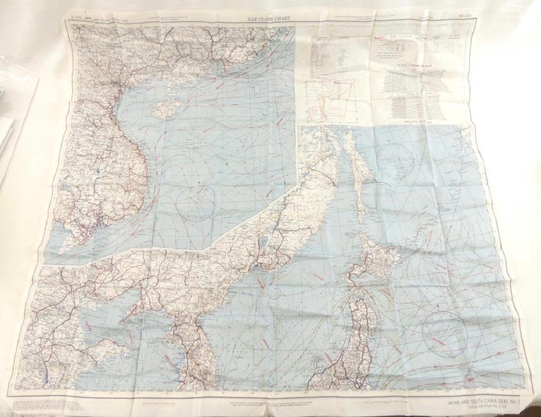 WW2 AAF Cloth Chart Map of Japan and South China Sea