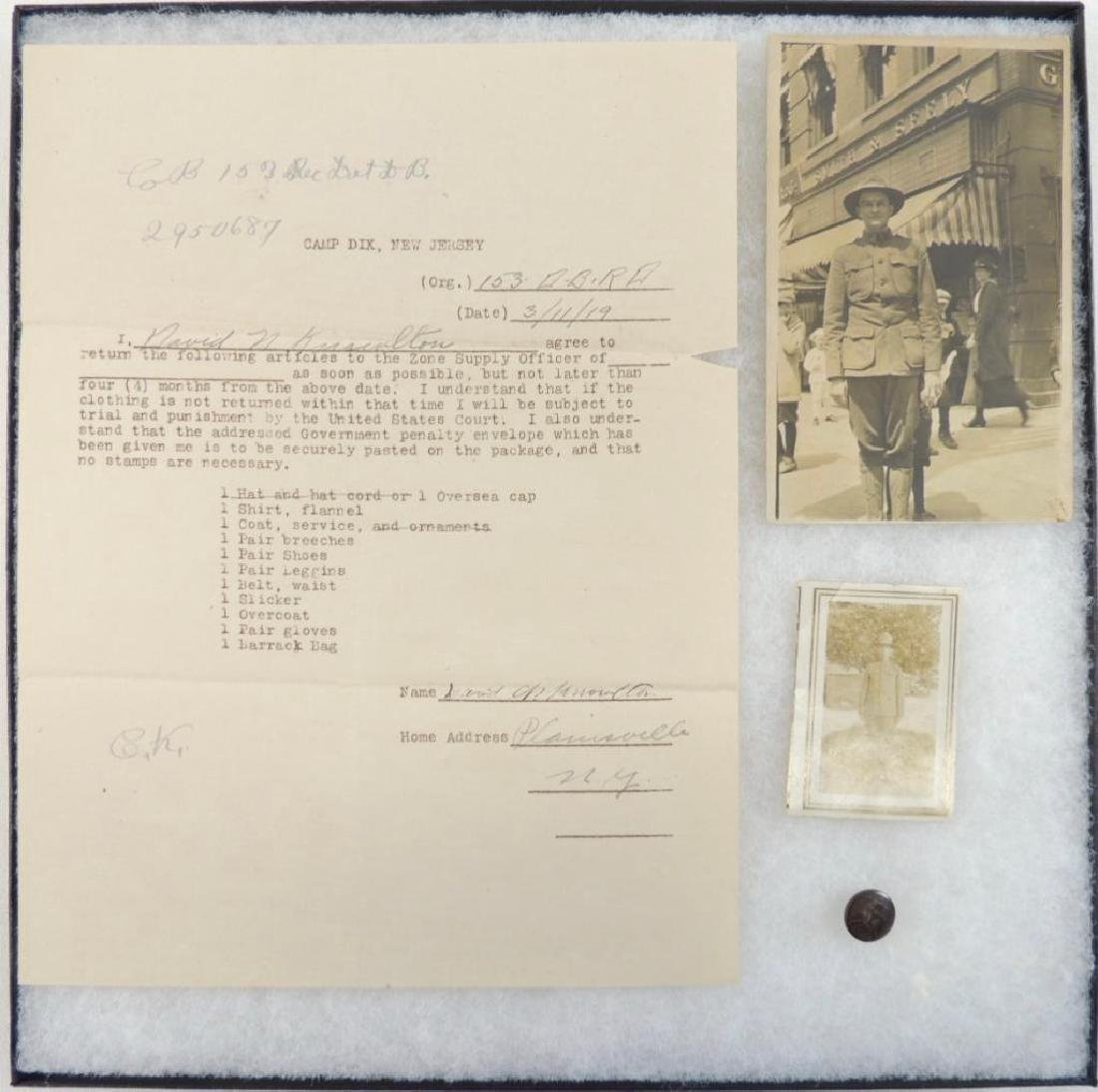 WW1 U.S. Army Soldier Photograph and Document