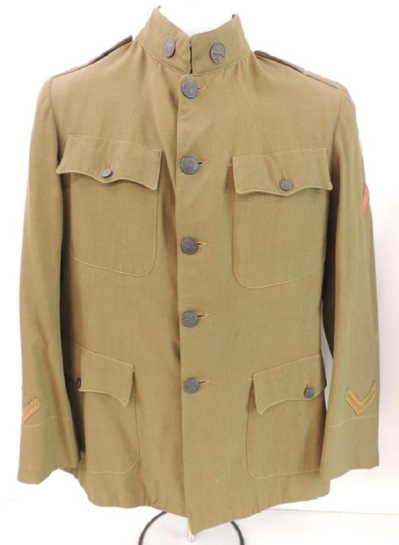 WW1 U.S. Army 26th Division Infantry Tunic with Patches