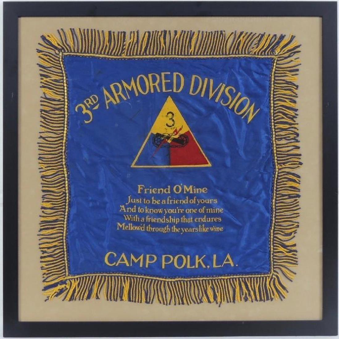 "WW1 ""3rd Armored Division"" ""Camp Polk, LA"" Souvenir"