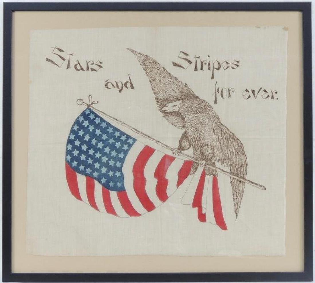 """WW1 """"Stars and Stripes Forever"""" Eagle and Flag Souvenir"""