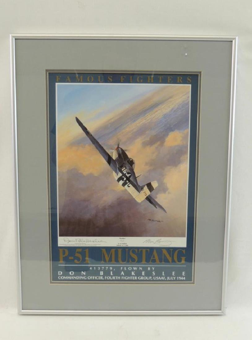 """Limited Edition Signed """"P-51 Mustang"""" Framed Print"""