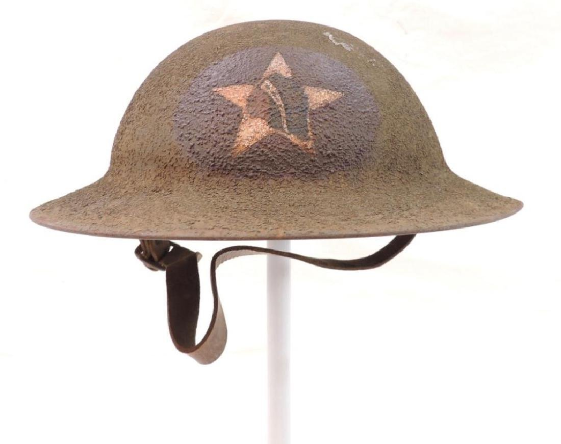 WW1 U.S. Army 2nd Division Doughboy Helmet with 23rd
