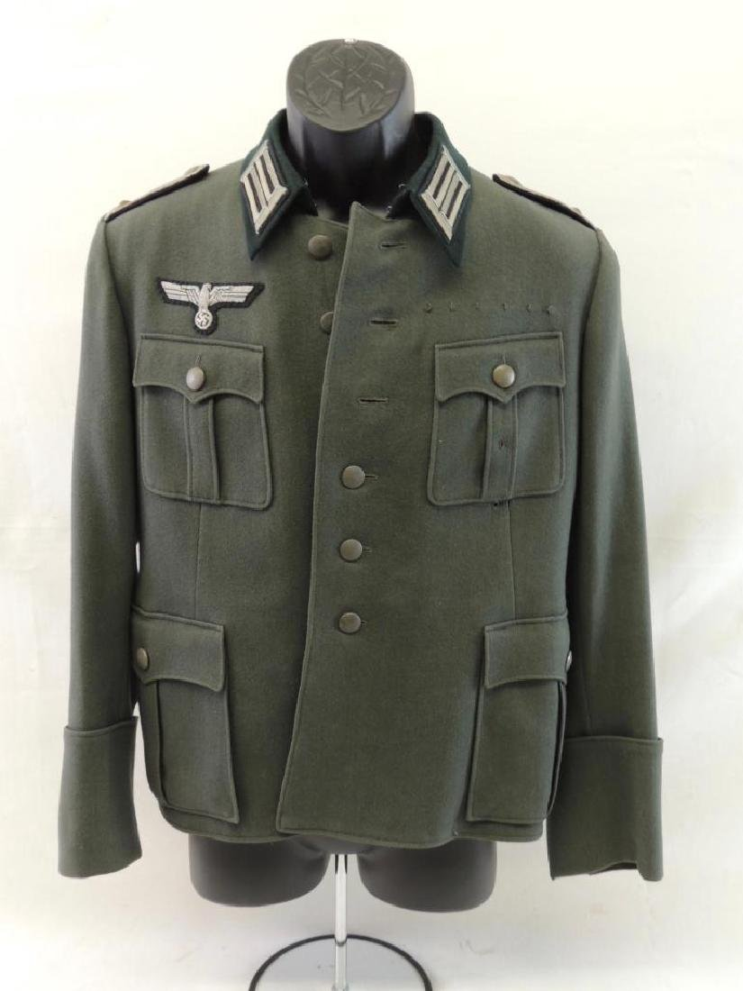 WW2 German Wehrmacht M40 Officers Tunic Patches and