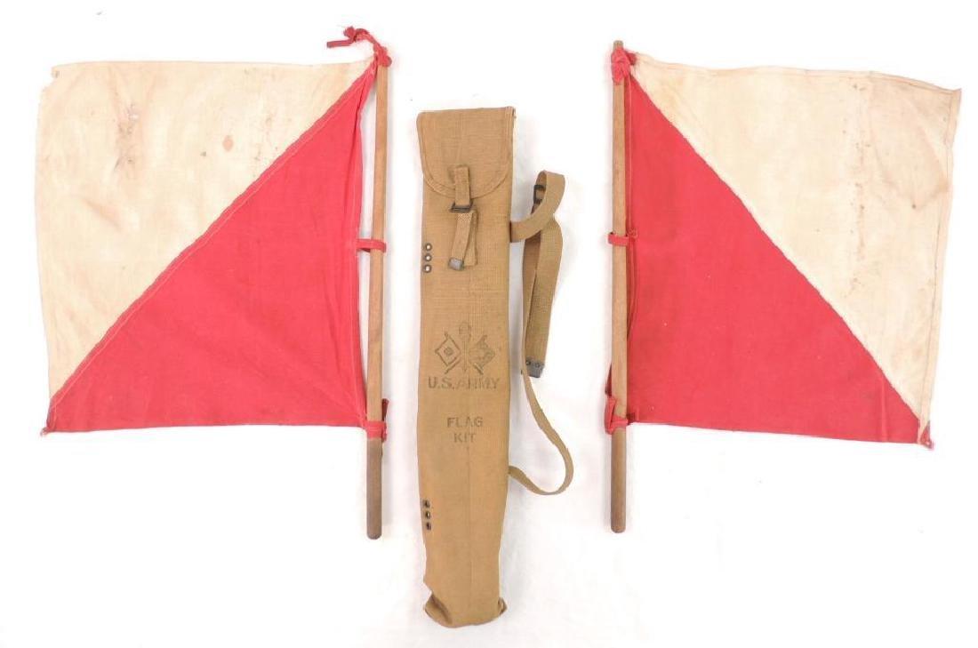 WW1 U.S. Army Signal Corps Flag Kit with Flags