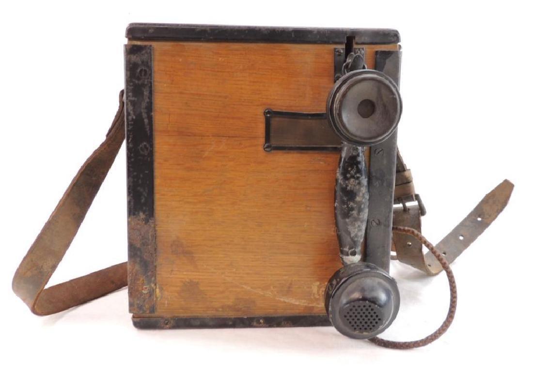 WW1 U.S. Army Signal Corps Model 1917 Field Telephone