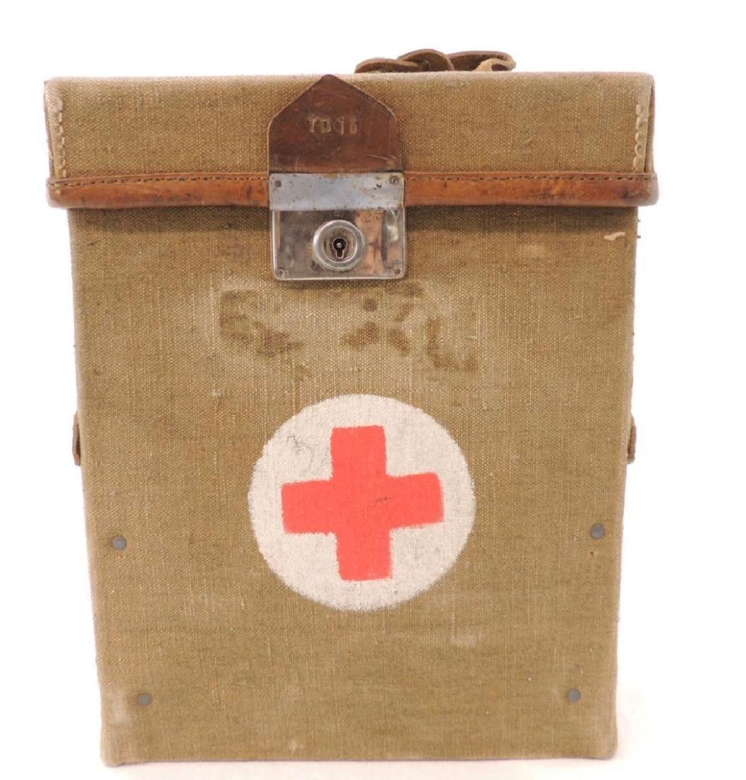 WW1 U.S. Army Medical Dept. Bag with First Aid