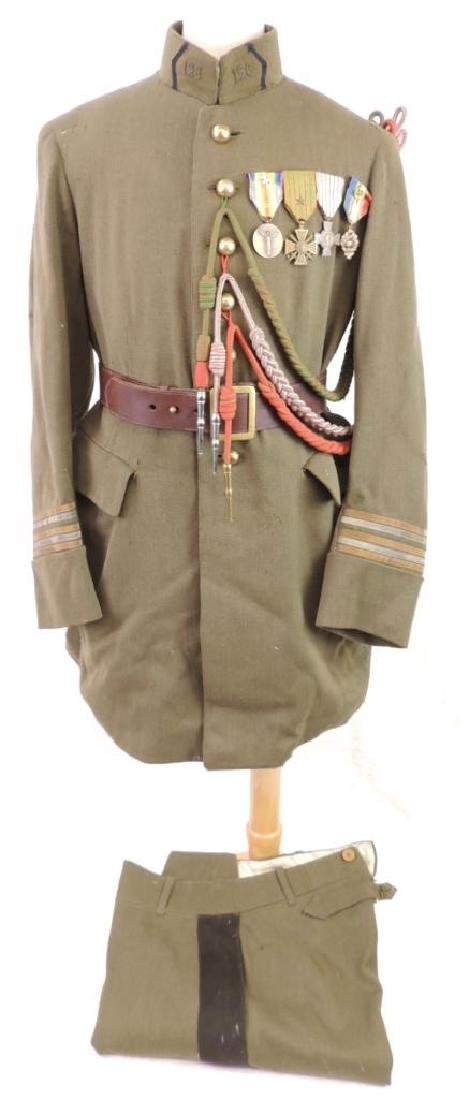 WW1 U.S. Army Officers Uniform with Medals and Ribbons
