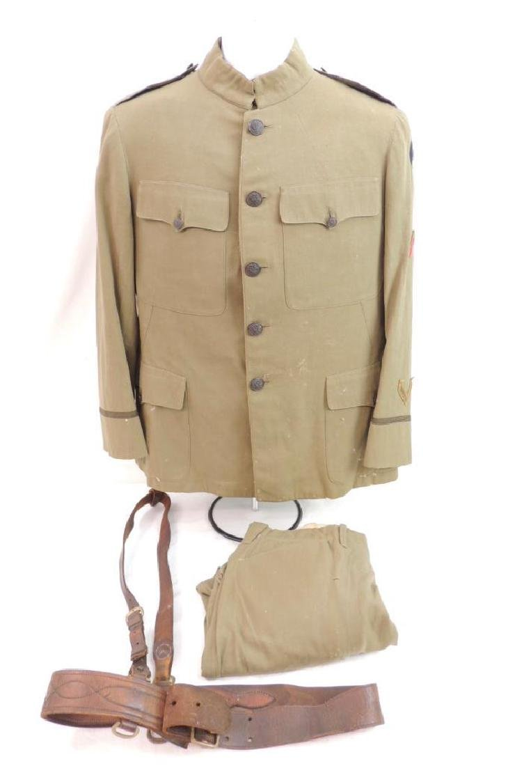 WW1 U.S. 3rd Army Officers Uniform with Pants and Belt