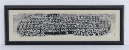 WW1 Co F 63rd Infantry Framed Photograph