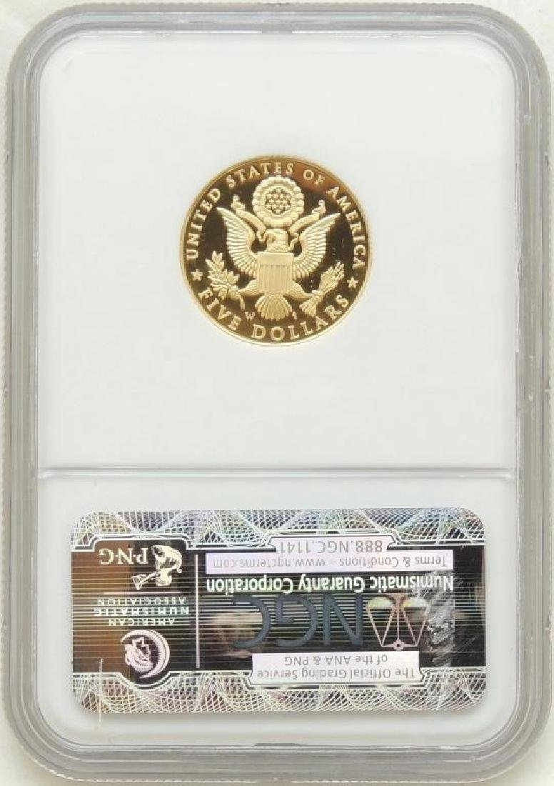 2008-W Bald Eagle $5.00 Gold Piece PF 70 Ultra Cameo - 2