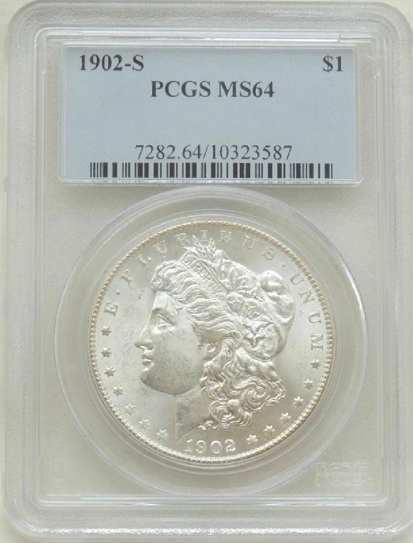 1902-S Morgan Dollar MS64