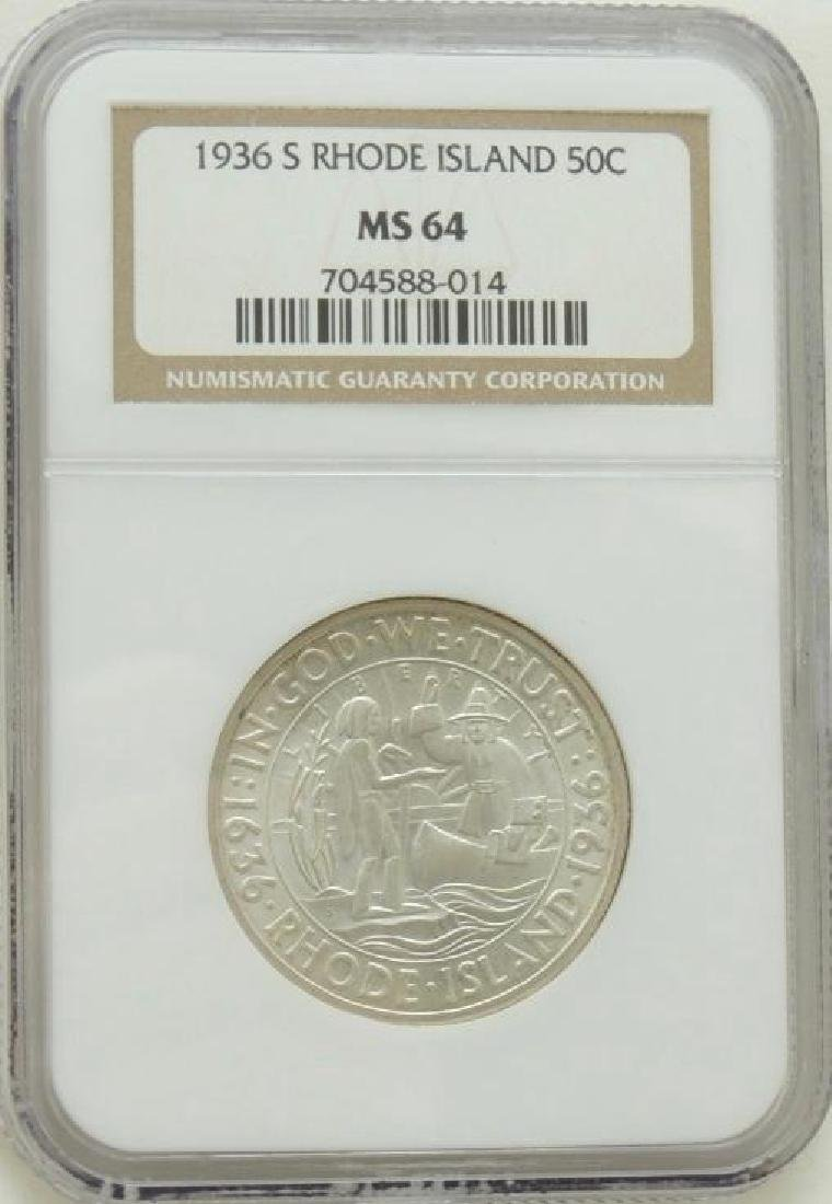 1936-S Rhode Island Commemorative Half Dollar MS64