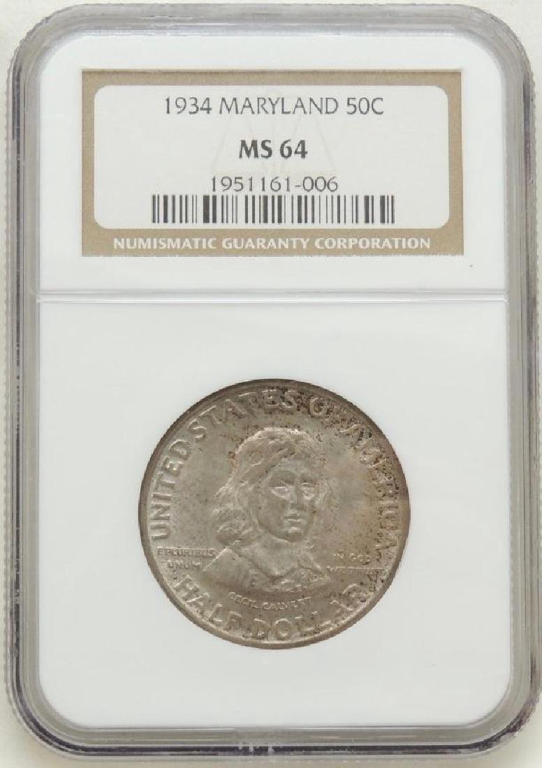 1934 Maryland Commemorative Half Dollar MS64