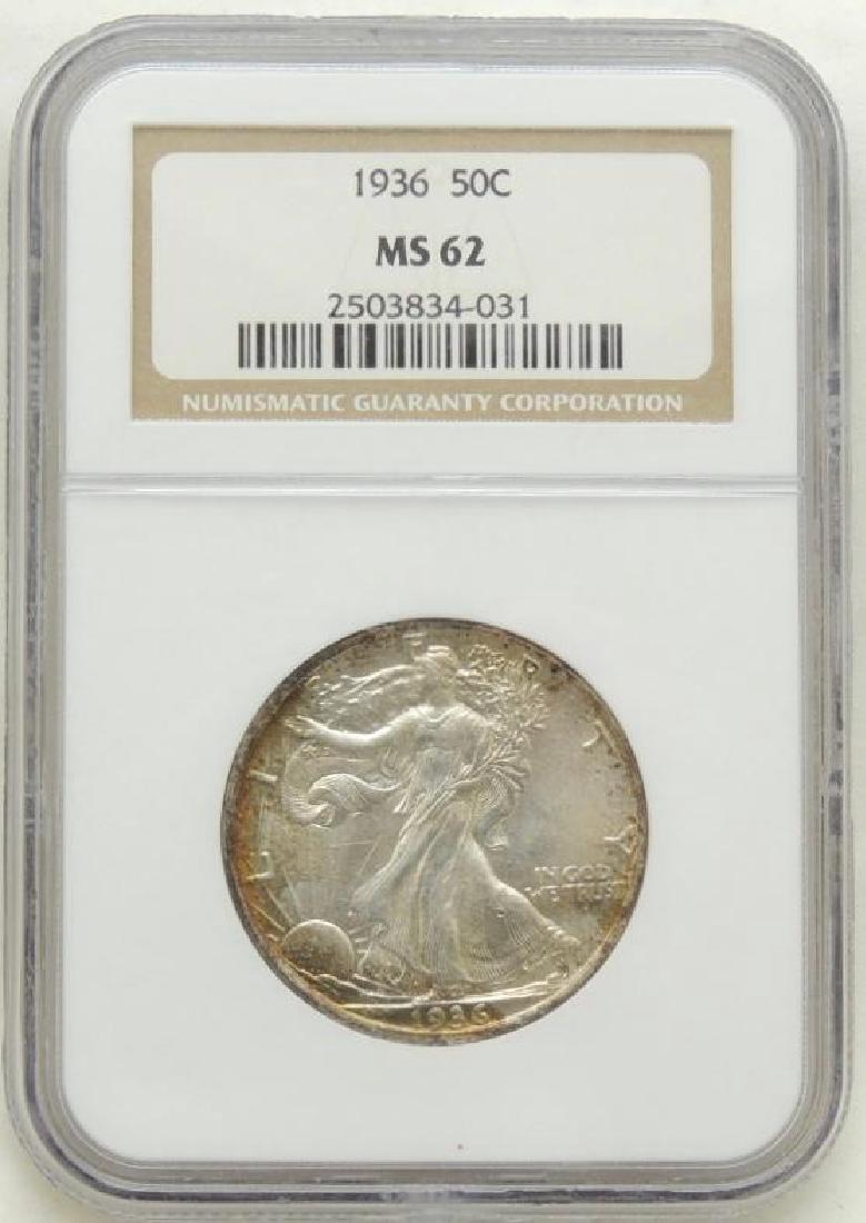 1936 Walking Liberty Half Dollar MS62