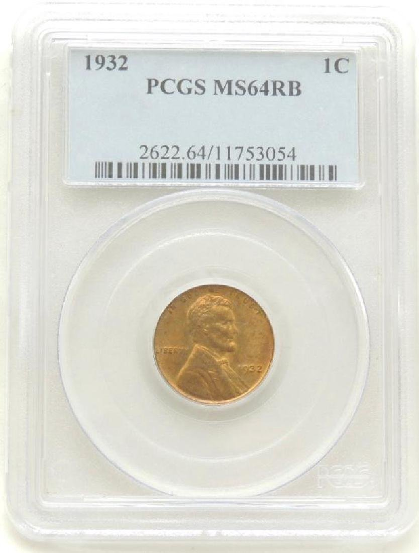 1932 Lincoln Cent MS64 RB