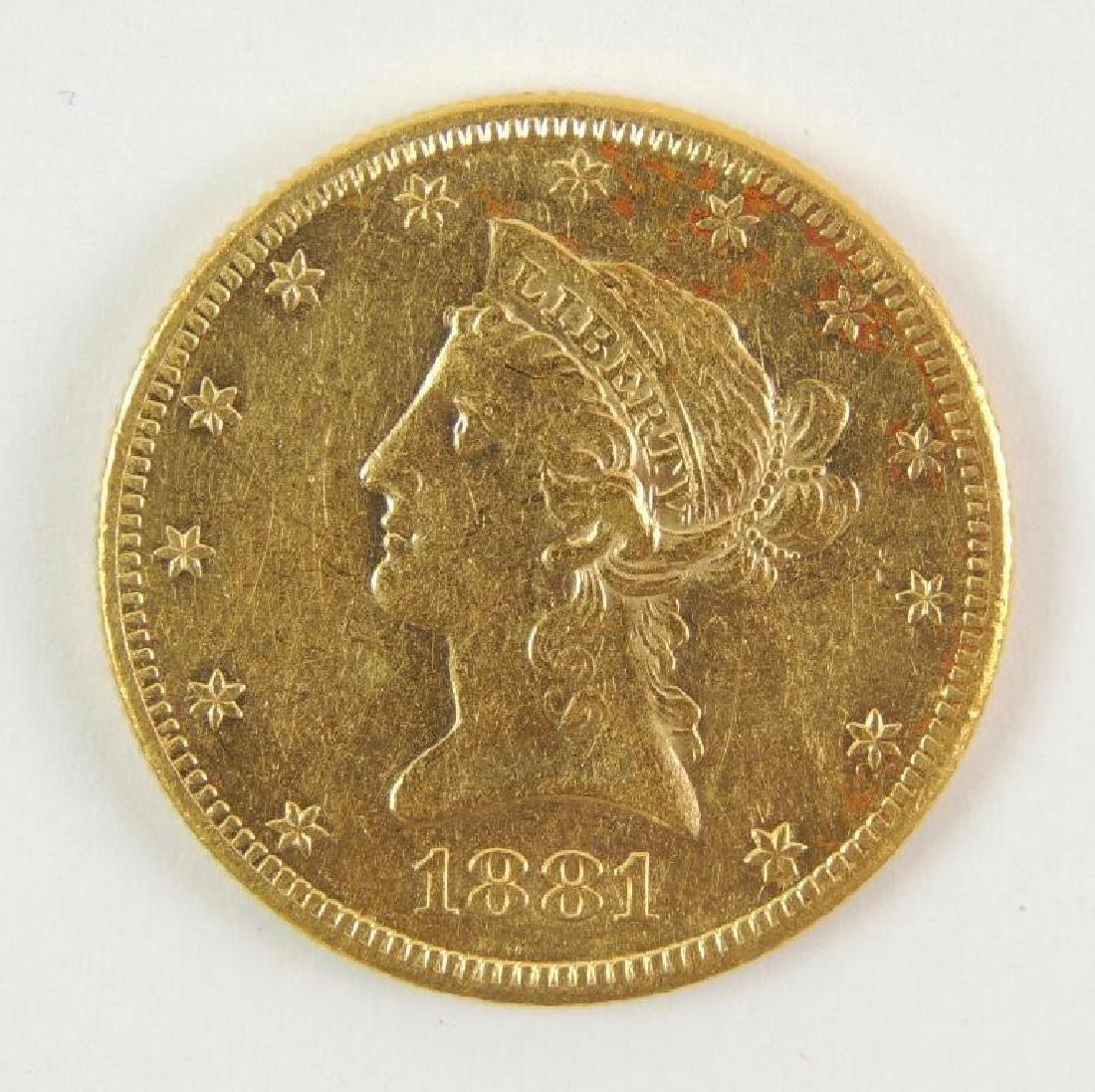 1881-S Liberty Eagle $10 Gold Coin