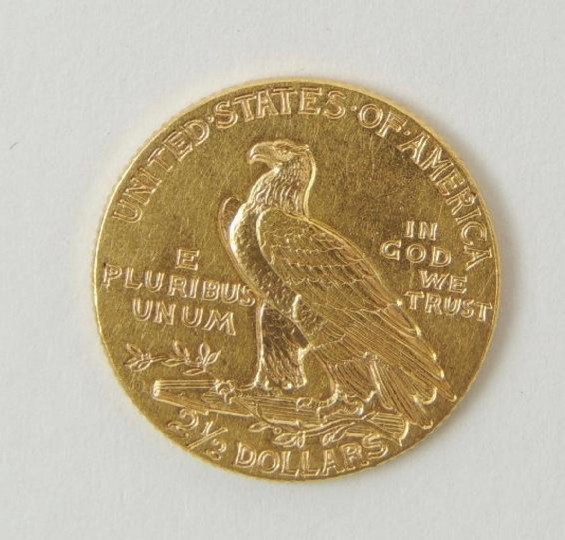 1925-D Indian Head Quarter Eagle $2.50 Gold Coin - 2