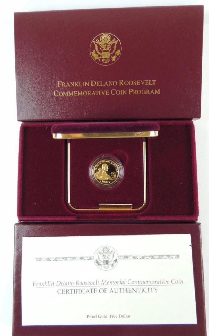 1997-W FDR Memorial Commemorative Proof Gold Five