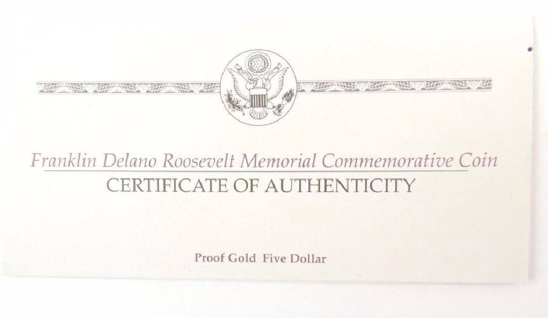 1997-W FDR Memorial Commemorative Proof Gold Five - 2