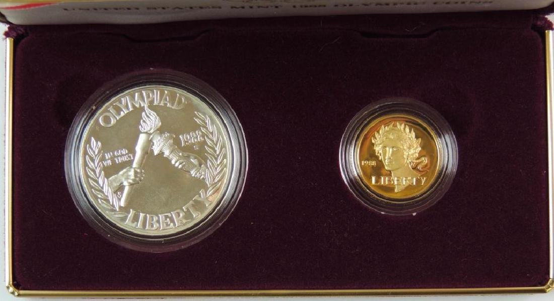 1988 Olympic Commemorative 2-coin Proof Set - 2